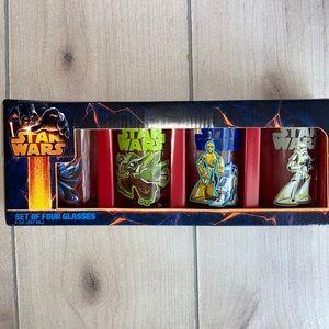 Star Wars Juice Glasses 8 oz New in Package